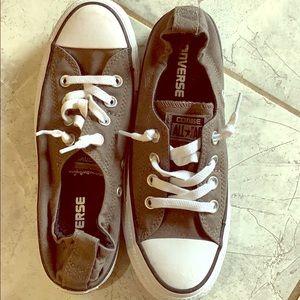 Grey slip on converse size 7